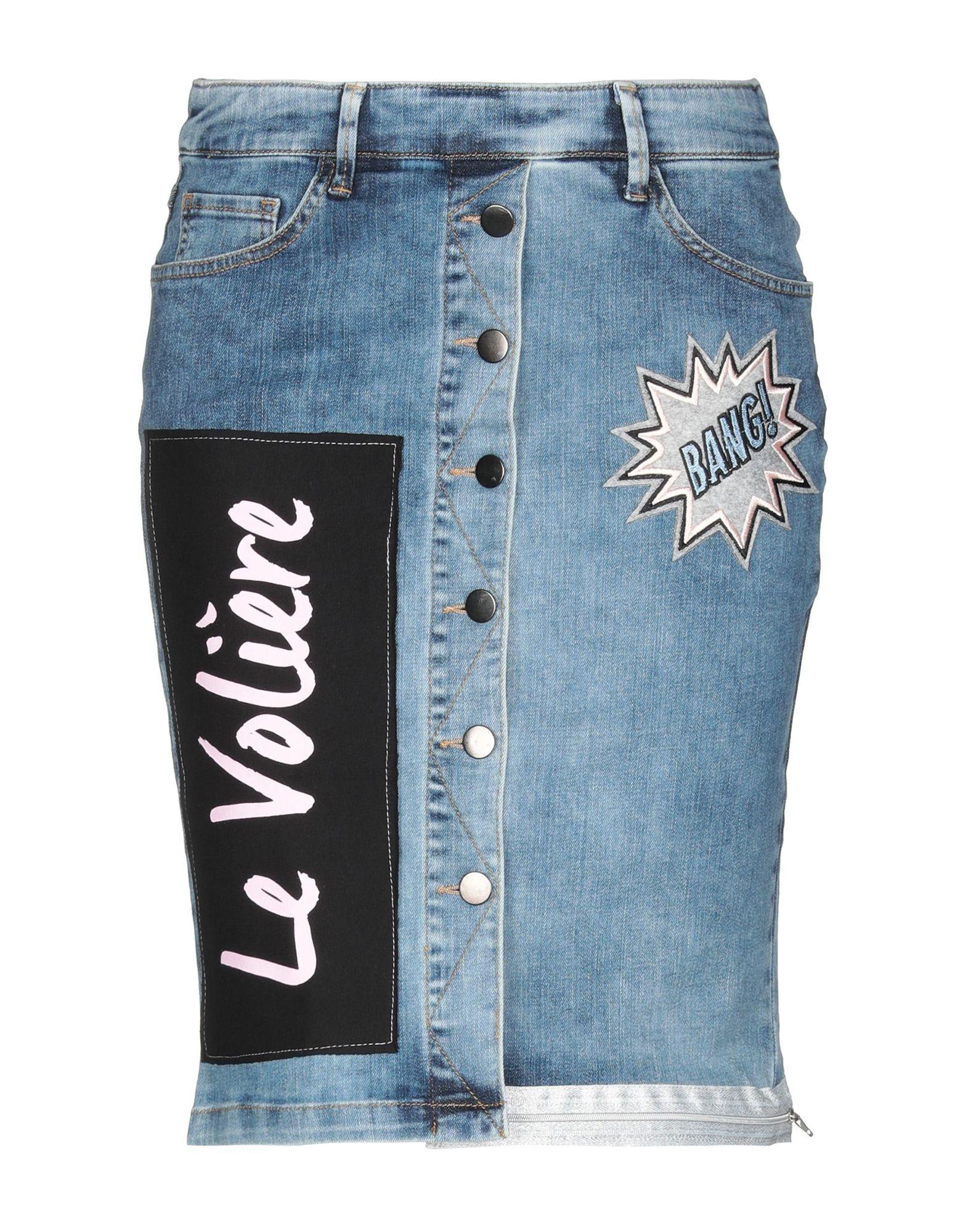LE VOLIÈRE Джинсовая юбка le volière джинсовая верхняя одежда