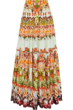 CAMILLA Samba Salad embellished printed gauze maxi skirt