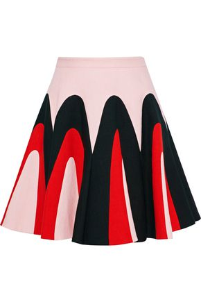 DELPOZO Printed linen mini skirt
