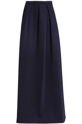 DELPOZO Pleated neoprene maxi skirt