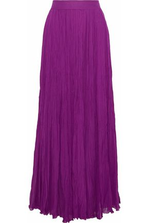 ROBERTO CAVALLI Gathered silk-chiffon maxi skirt