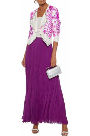 ROBERTO CAVALLI Gathered silk-chiffon maxi skirt