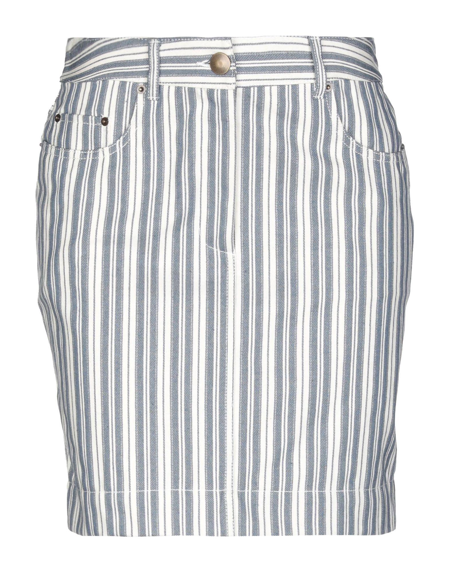 《期間限定 セール開催中》PHILOSOPHY di LORENZO SERAFINI レディース ミニスカート ブルー 38 コットン 100%
