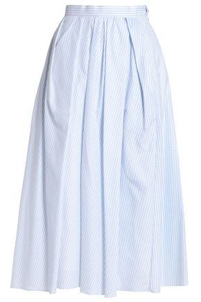 ADAM LIPPES Pleated cotton-jacquard midi skirt