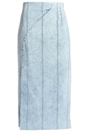 ADAM LIPPES Denim midi skirt