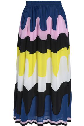 EMILIO PUCCI Printed silk midi skirt