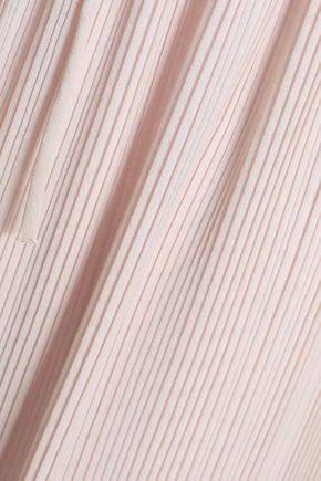 SEE BY CHLOÉ Asymmetric pleated crepe midi skirt