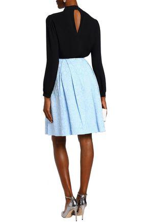 ERDEM Pleated cloqué skirt