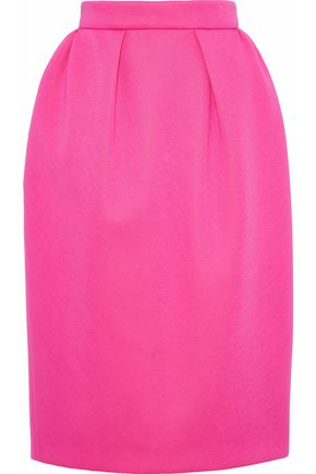 DELPOZO Pleated neoprene pencil skirt