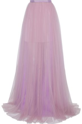 DELPOZO Pleated tulle maxi skirt