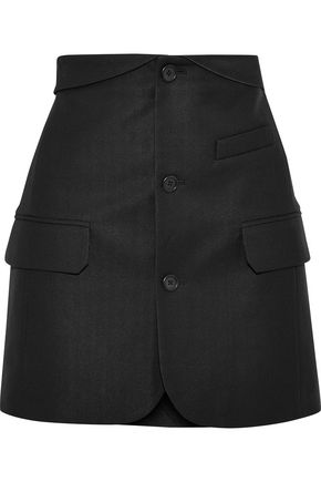 HELMUT LANG Button-detailed piqué mini skirt