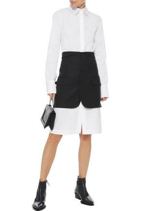 HELMUT LANG Button-detailed piqué mini skirt