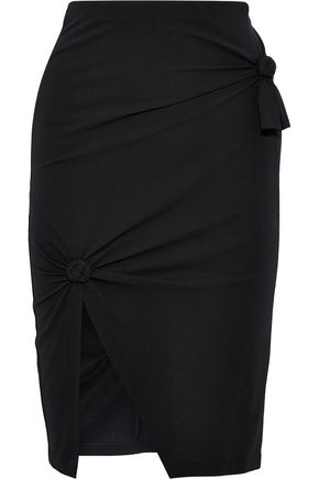 HELMUT LANG Knotted stretch-cotton jersey skirt