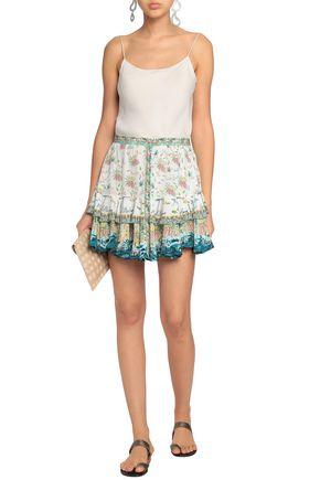 b03bf574907ed CAMILLA Embellished printed silk mini skirt