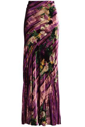 ALBERTA FERRETTI Printed velvet maxi skirt