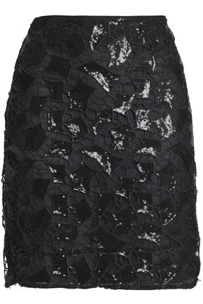 IRO Sequined guipure lace mini skirt