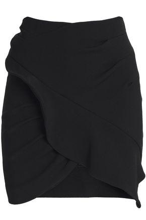 IRO Wrap-effect crepe mini skirt