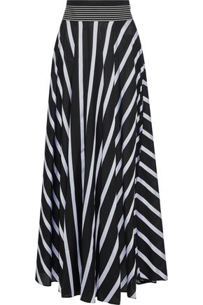 DIANE VON FURSTENBERG Striped woven maxi skirt