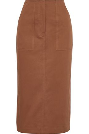 DIANE VON FURSTENBERG Stretch-cotton twill pencil skirt