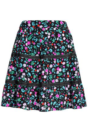 KATE SPADE New York Scenic Route floral-print silk mini skirt