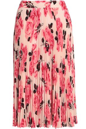 b87d55aea Pleated floral-print crepe skirt | KATE SPADE New York | Sale up to ...