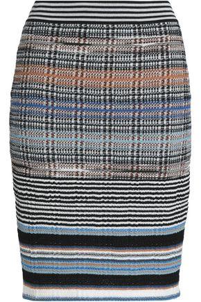 MISSONI Stretch-knit printed pencil skirt