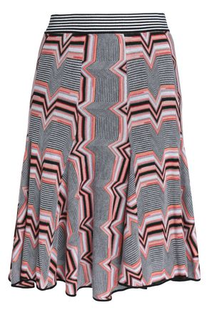 MISSONI Pleated crochet-knit skirt