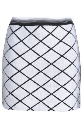 MISSONI Checked wool-blend mini skirt