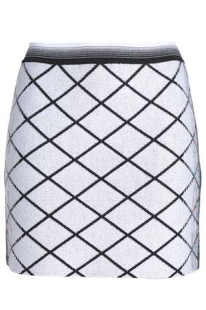 MISSONI Jacquard-knit wool-blend mini pencil skirt