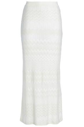 MISSONI Metallic crochet-knit maxi skirt