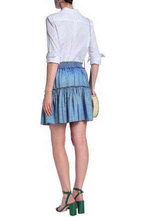 KATE SPADE New York Broome Street tencel-chambray mini skirt