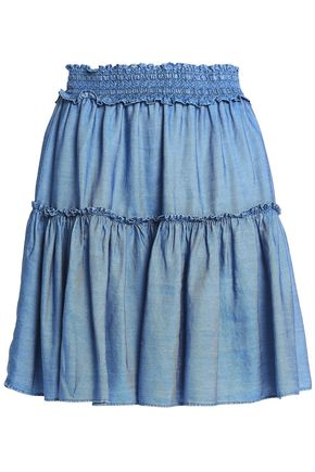 KATE SPADE New York Broome Street tencel-chambray mini skirt