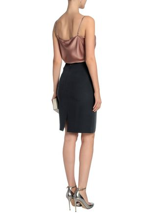 GIORGIO ARMANI Silk-cady pencil skirt