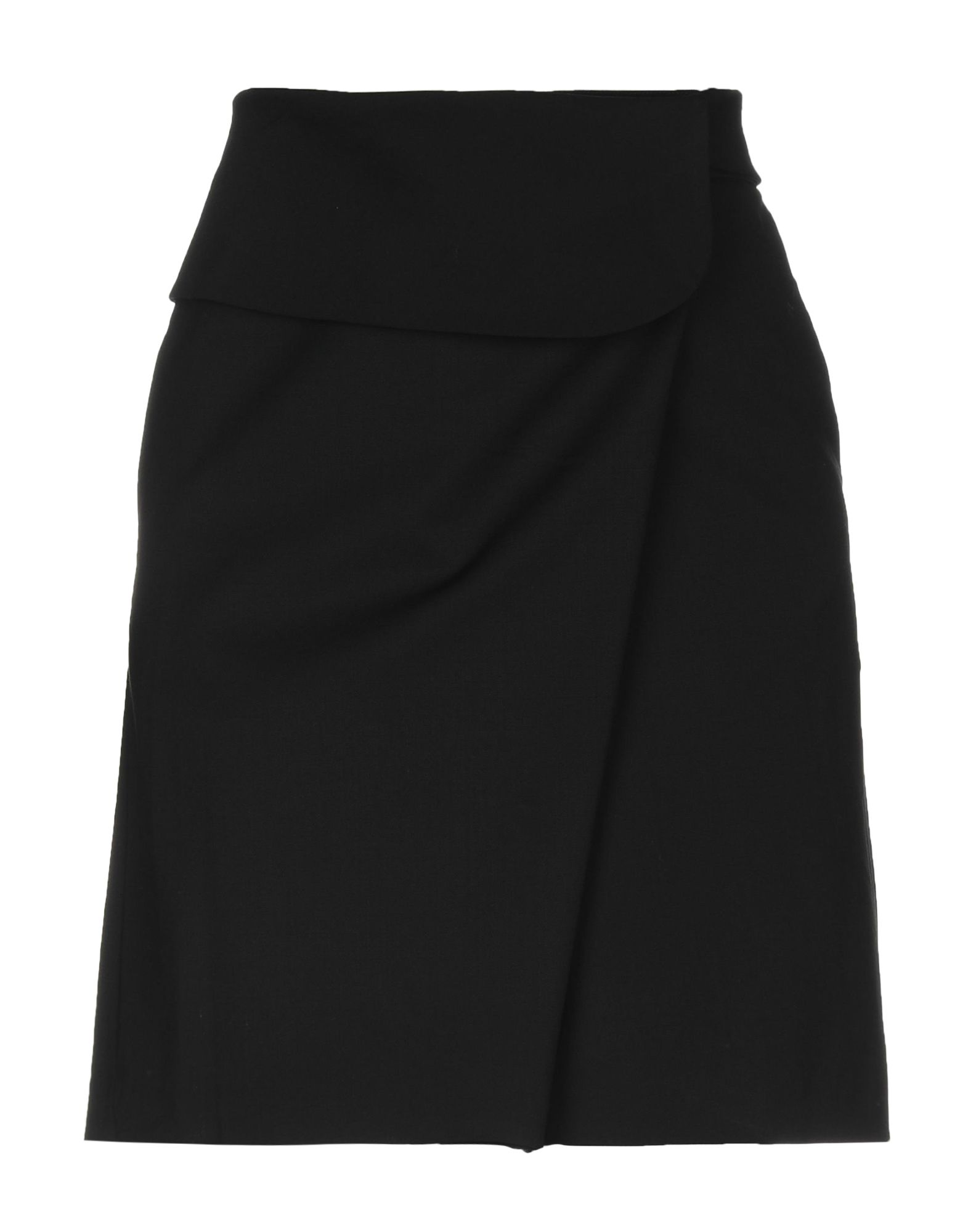 《セール開催中》EMPORIO ARMANI レディース ひざ丈スカート ブラック 40 ウール 60% / ポリエステル 36% / ポリウレタン 4%