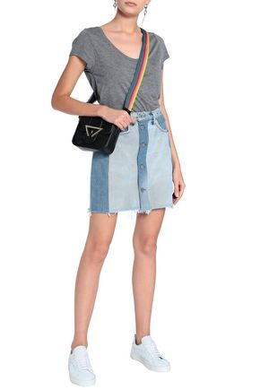 RE/DONE with LEVI'S Two-tone denim mini skirt