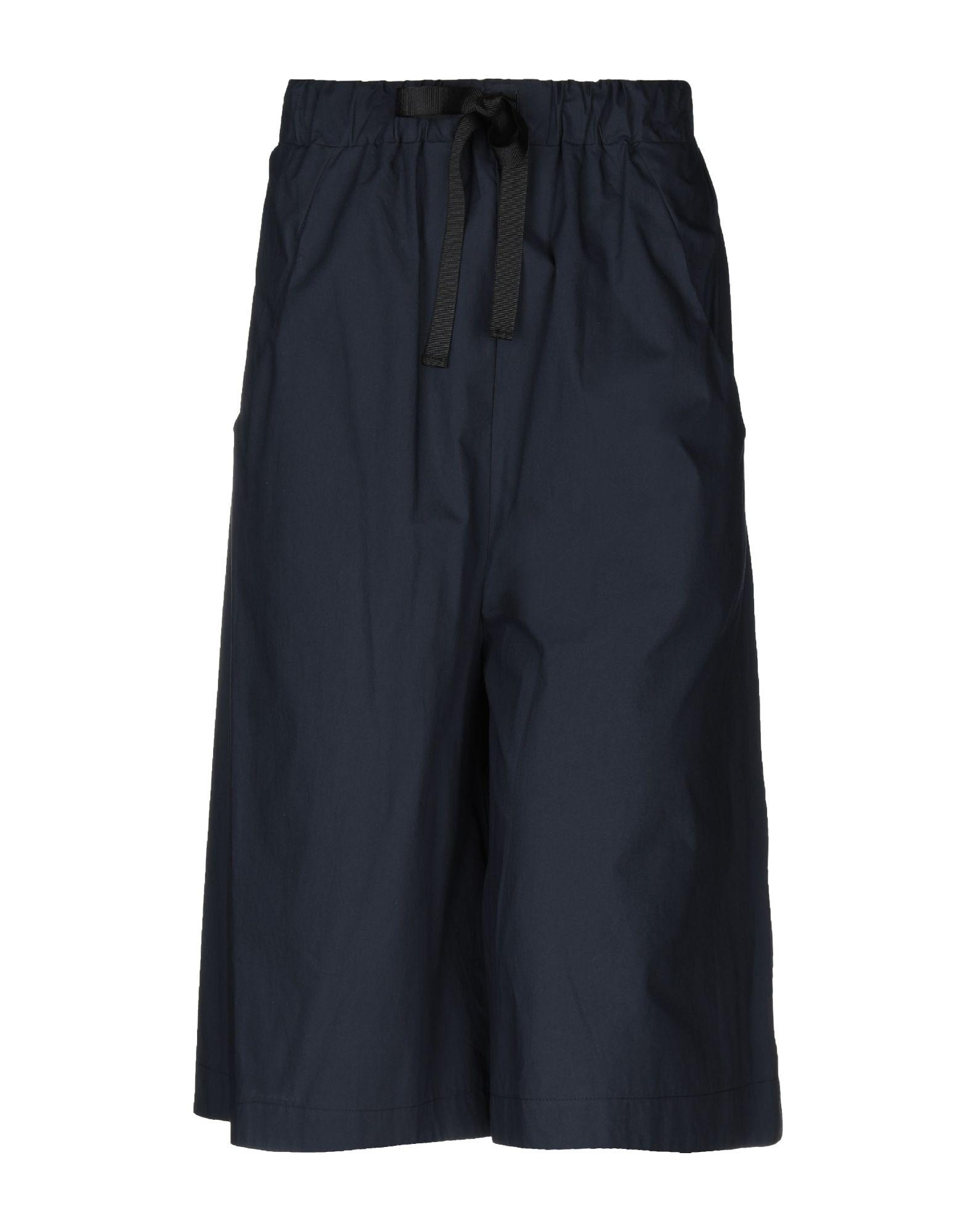 《送料無料》NEIRAMI レディース 7分丈スカート ダークブルー L コットン 100%