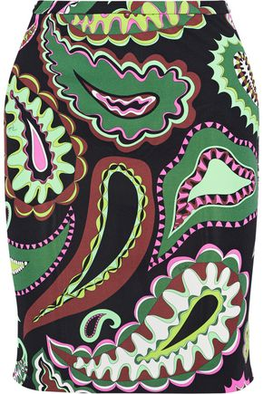 EMILIO PUCCI Printed stretch-jersey mini skirt