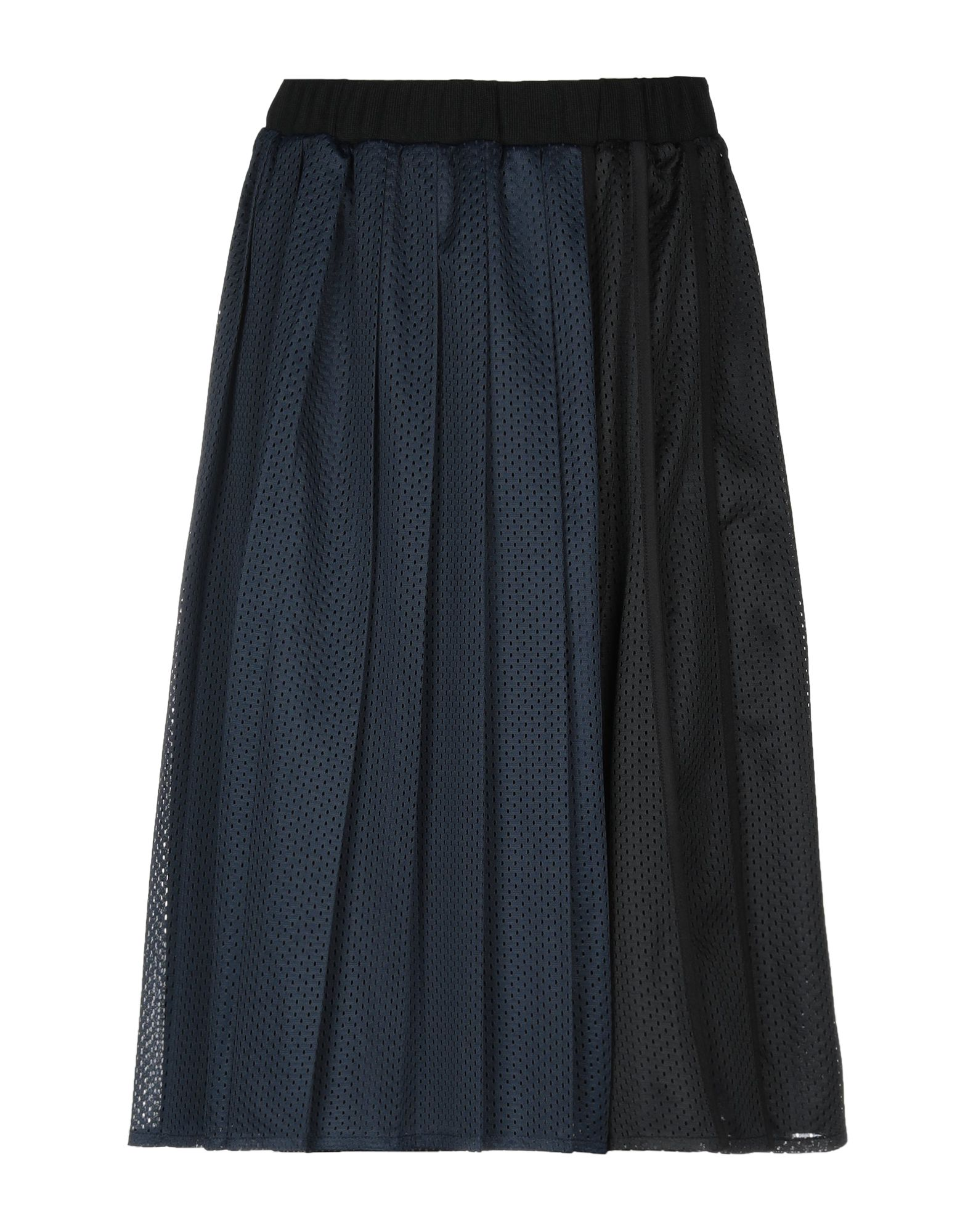 《送料無料》MUVEIL WORK レディース ひざ丈スカート ダークブルー 36 ポリエステル 100%