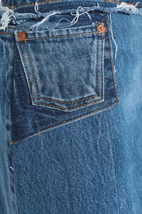 RE/DONE with LEVI'S Distressed denim mini skirt