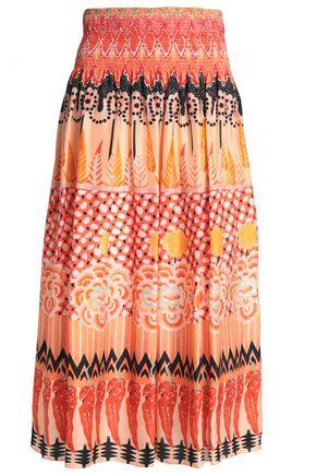 TEMPERLEY LONDON Printed silk midi skirt