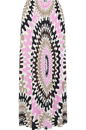 EMILIO PUCCI Printed stretch-jersey midi skirt