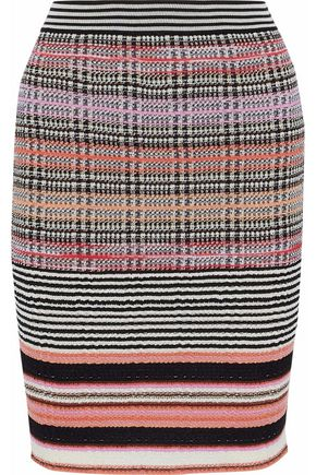 MISSONI Jacquard-knit wool-blend skirt