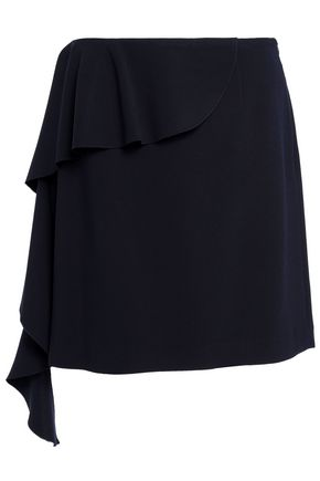 GOEN.J Draped woven mini skirt