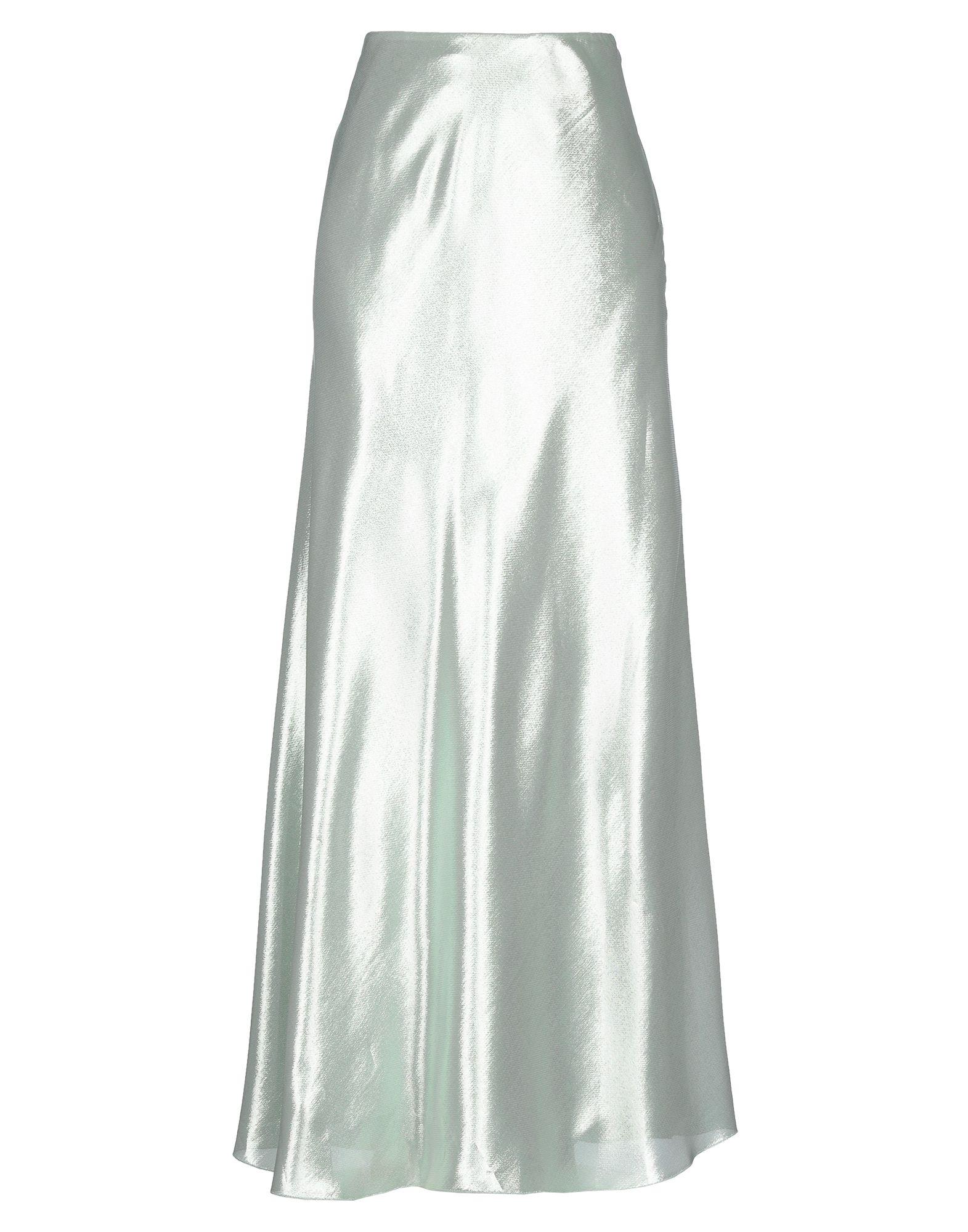 《セール開催中》ALBERTA FERRETTI レディース ロングスカート ライトグリーン 42 シルク 60% / ポリエステル 40%