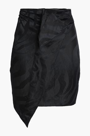CARMEN MARCH Linen-blend jacquard mini skirt