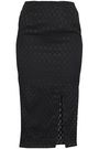 NICHOLAS Split-front jacquard midi pencil skirt