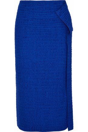 ROLAND MOURET Embroidered cotton-blend pencil skirt