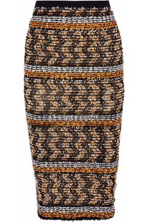 ROLAND MOURET Gunby bouclé-knit pencil skirt
