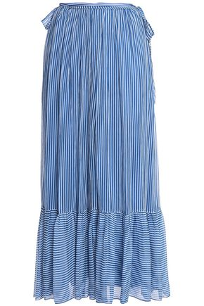 ANTIK BATIK Striped gauze maxi skirt