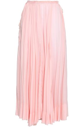ANTIK BATIK Bowly pleated voile maxi skirt